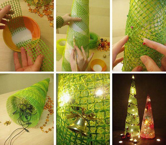Как украсить дом к Новому году: настольная ёлка
