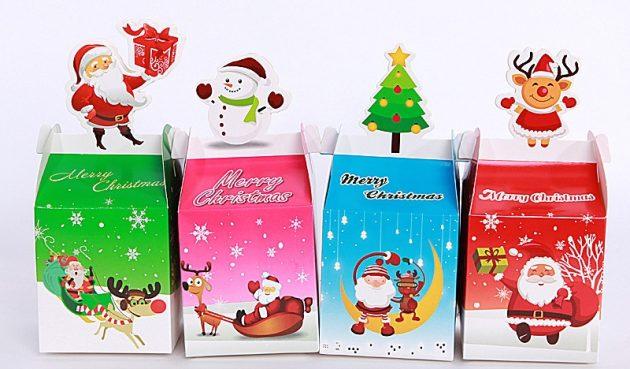 новогодние товары: коробки для подарков