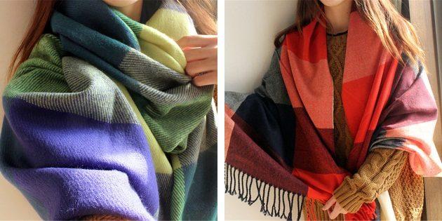 Что подарить маме на Новый год: красивый платок или палантин
