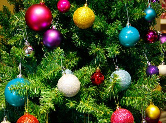 новогодние товары: ёлочные шары