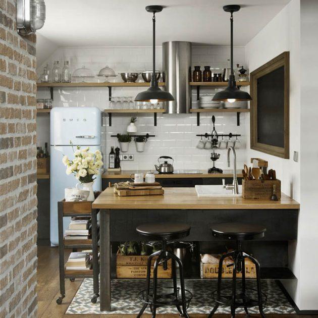 Дизайн маленькой кухни: многофункциональные шкафы