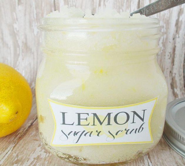 Как сделать новогодний подарок своими руками: Сахарный скраб с ароматом лимона