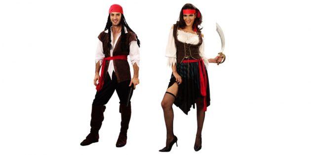 Новогодние костюмы для взрослых: пират