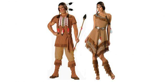 Новогодние костюмы для взрослых: индеец