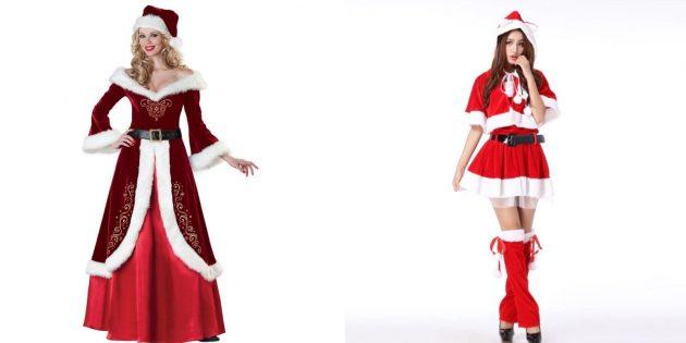 Новогодние костюмы для взрослых: Снегурочка