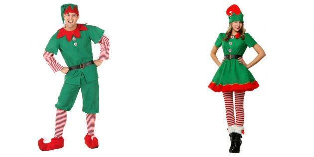 Новогодние костюмы для взрослых: милый эльф
