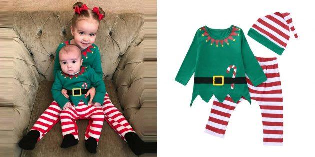 Новогодние костюмы для детей: маленький эльф