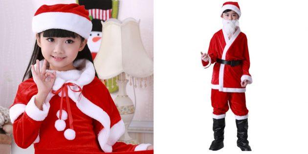 Новогодние костюмы для детей: помощники Санты