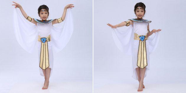 Новогодние костюмы для детей: египтянка
