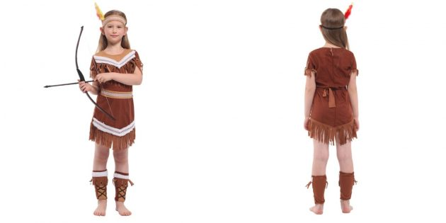 Новогодние костюмы для детей: индейская принцесса