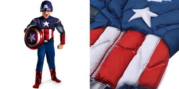 Новогодние костюмы для детей: Капитан Америка