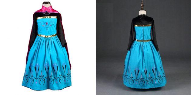 Новогодние костюмы для детей: принцесса Эльза