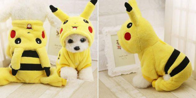 Новогодние костюмы для собак и кошек: Пикачу