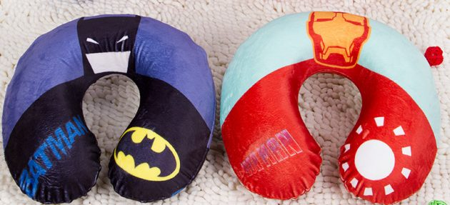 Подушки для шеи в виде супергероев