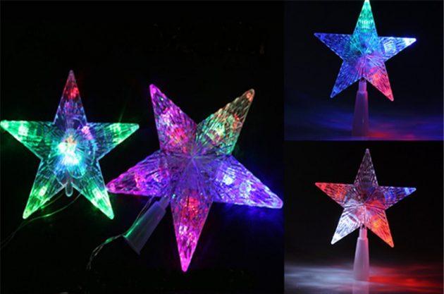новогодние товары: верхушка в форме звезды