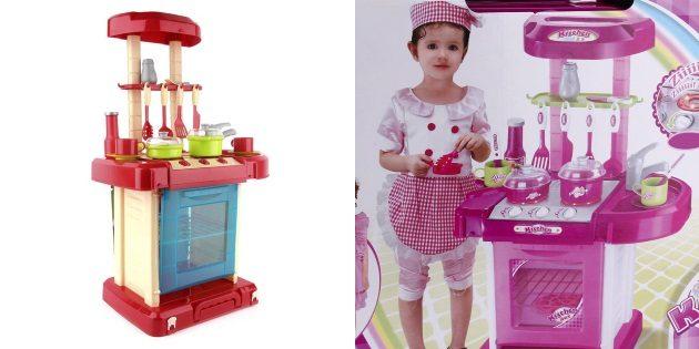 Что подарить девочке на новый год: Кухонный модуль с плитой