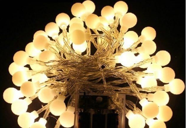 новогодние товары: светодиодная ёлочная гирлянда