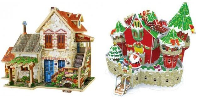 Подарки детям на Новый год: Картонный пазл