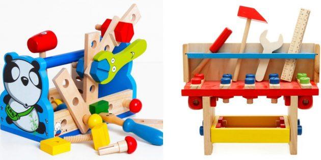 Подарки мальчику на новый год: Деревянные инструменты