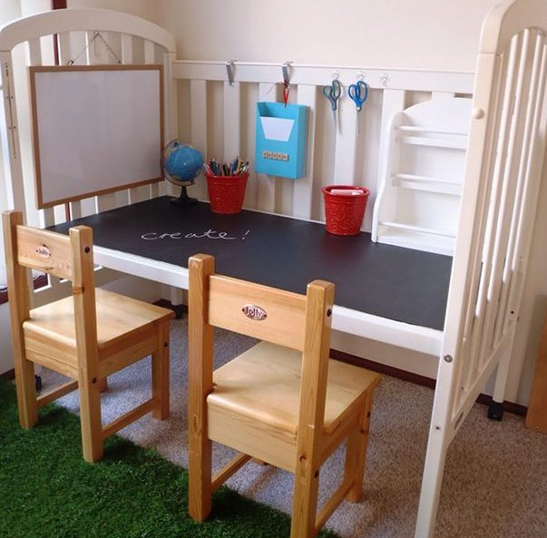 recycle-old-cot-into-a-craft-or-work-spot-for-your-kids