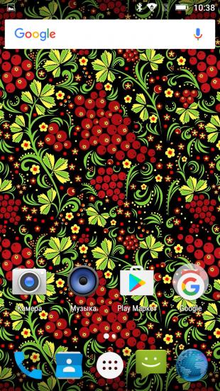 Android Marshmallow: обои в стиле хохлома