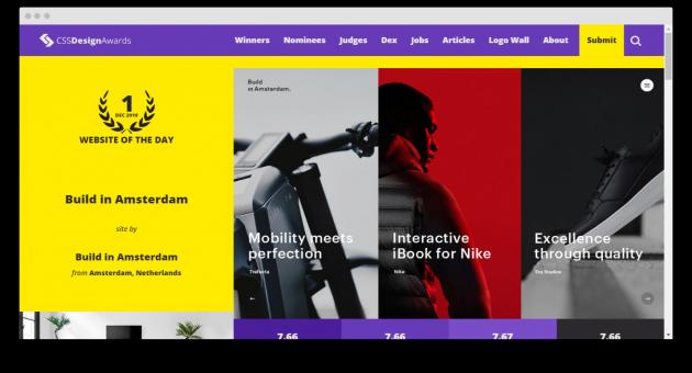 каскадные таблицы стилей: CSS Design Awards