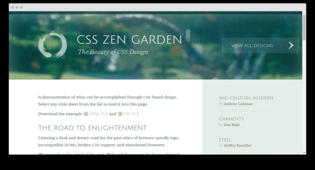 каскадные таблицы стилей: CSS Zen Garden