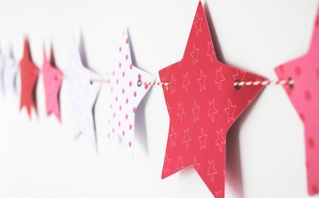 Как украсить дом на Новый год: гирлянда из бумаги