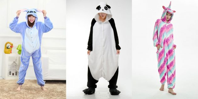 Что подарить девушке на Новый год: Пижама кигуруми