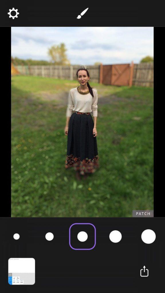 как сделать размытое фото на айфоне отменяется использование