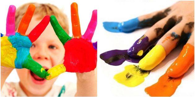 Что подарить ребёнку на Новый год: Пальчиковые краски