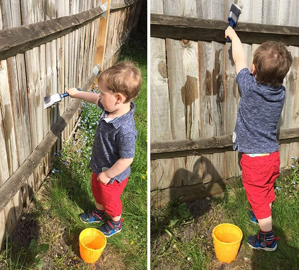 Советы родителям: поручите малышу покрасить забор