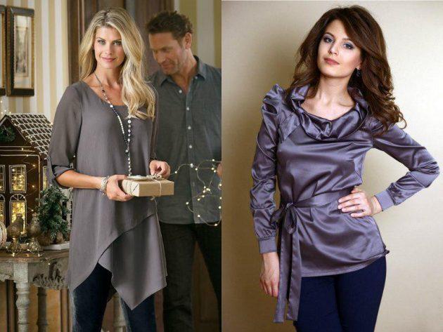 Как убрать бока с помощью одежды: удлинённые блузы и туники