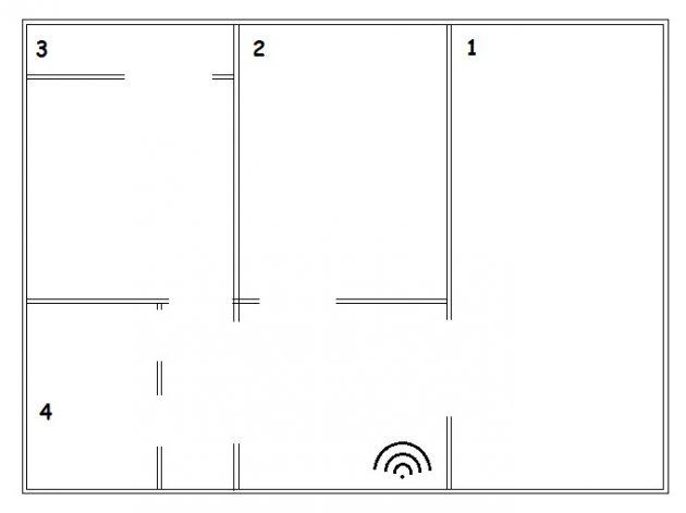 Xiaomi Router 3: Схема квартиры