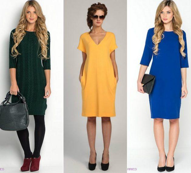 Как убрать бока с помощью одежды: платье прямого кроя