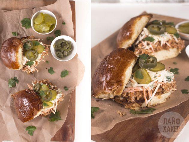 Что можно приготовить на обед: слайдер-сэндвич с курицей барбекю