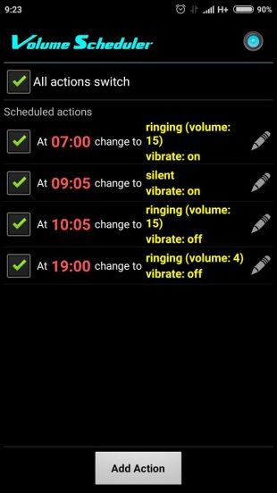 Volume Scheduler: расписание