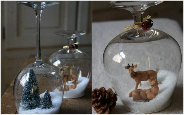 Как сделать новогодний подарок своими руками: Стеклянный снежный… фужер