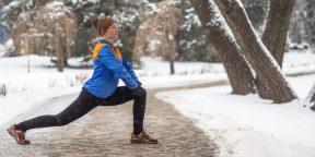 6 упражнений для тренировки на улице в холодное время года