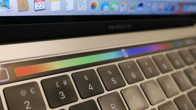 Touch Bar: цветовой спектр