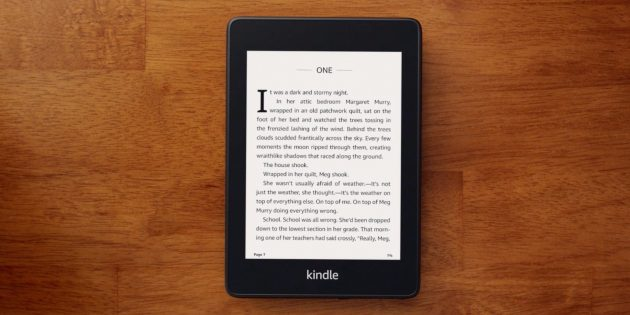 Гаджеты в подарок на Новый год: Kindle Paperwhite 2018