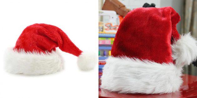 Недорогие подарки на Новый год: колпак Санта-Клауса