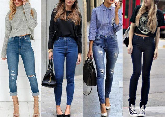 Как убрать живот: брюки и юбки с высокой посадкой