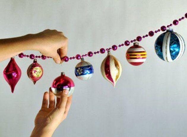 Как украсить дом на Новый год: гирлянда из шариков