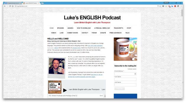 подкасты для изучения английского: Luke's English Podcast