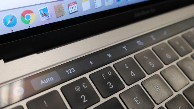 Touch Bar: работа с таблицами