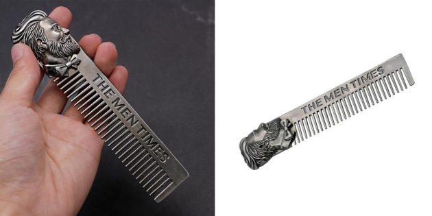 Недорогие подарки на Новый год: расчёска для бороды
