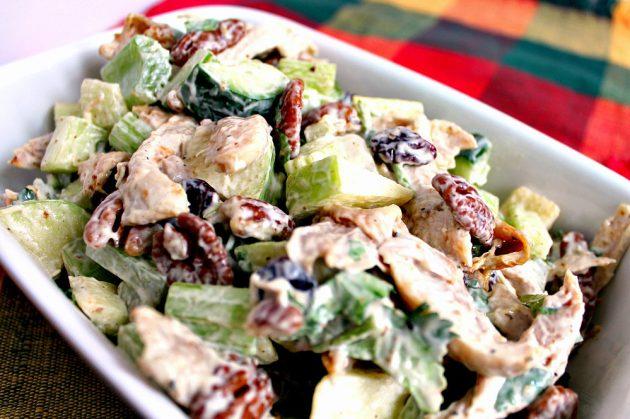 Праздничные салаты на скорую руку: куриный салат