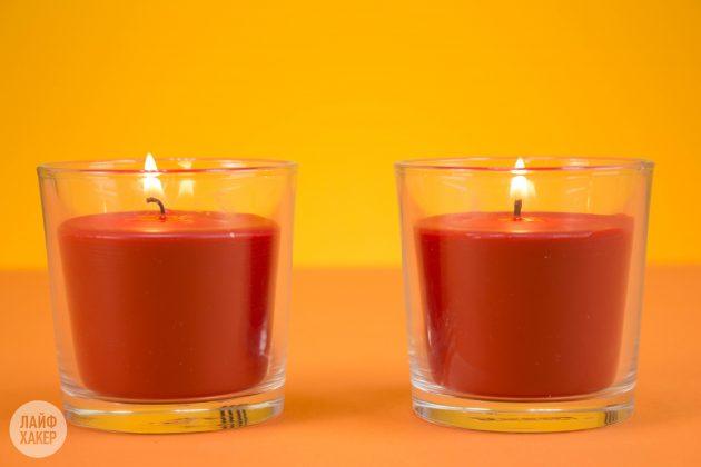 жечь свечи: горение