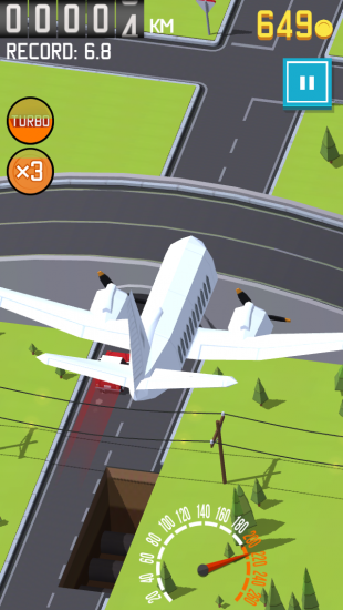 Yield: самолёт